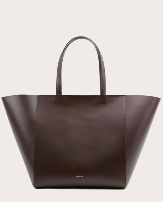ESTE Large Zip Shopper Bag Dark Chocolate-1