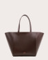 Torba ESTE Medium Zip Shopper Bag Dark Chocolate-1