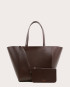 Torba ESTE Medium Zip Shopper Bag Dark Chocolate-2