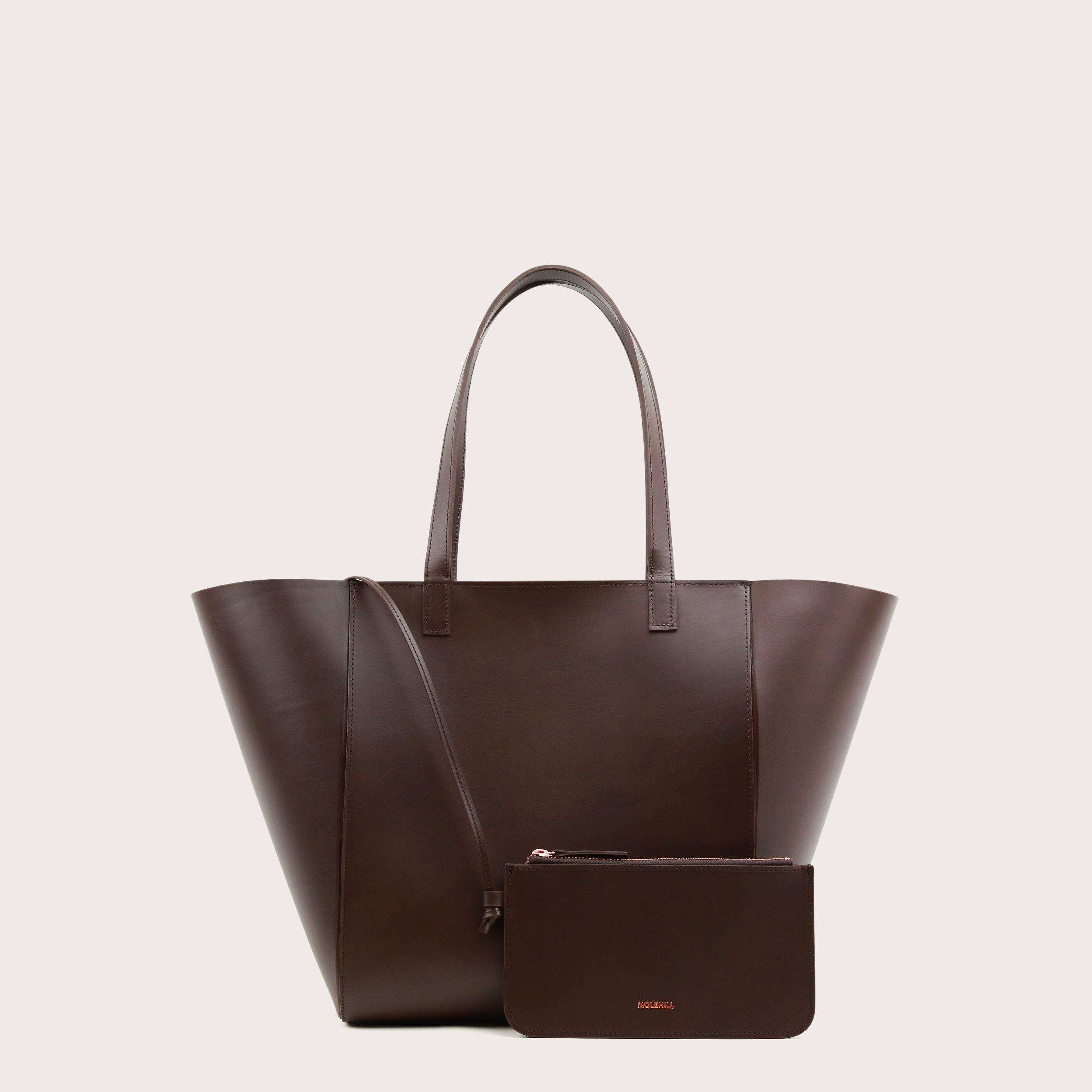Torba ESTE Medium Zip Shopper Bag Dark Chocolate-2