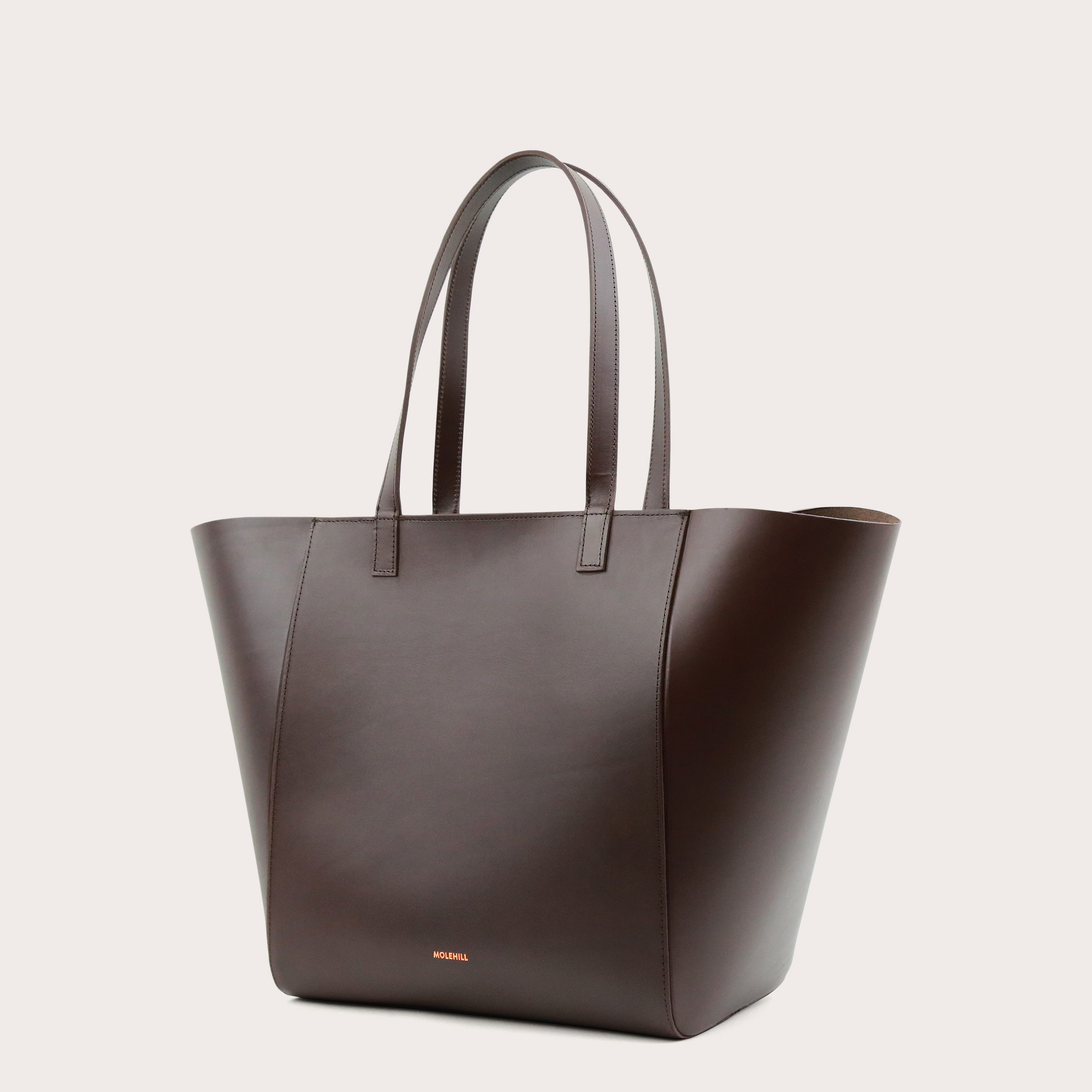 Torba ESTE Medium Zip Shopper Bag Dark Chocolate-3