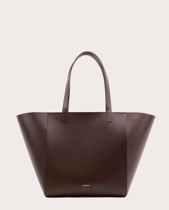 Torba ESTE Medium Zip Shopper Bag Dark Chocolate-1