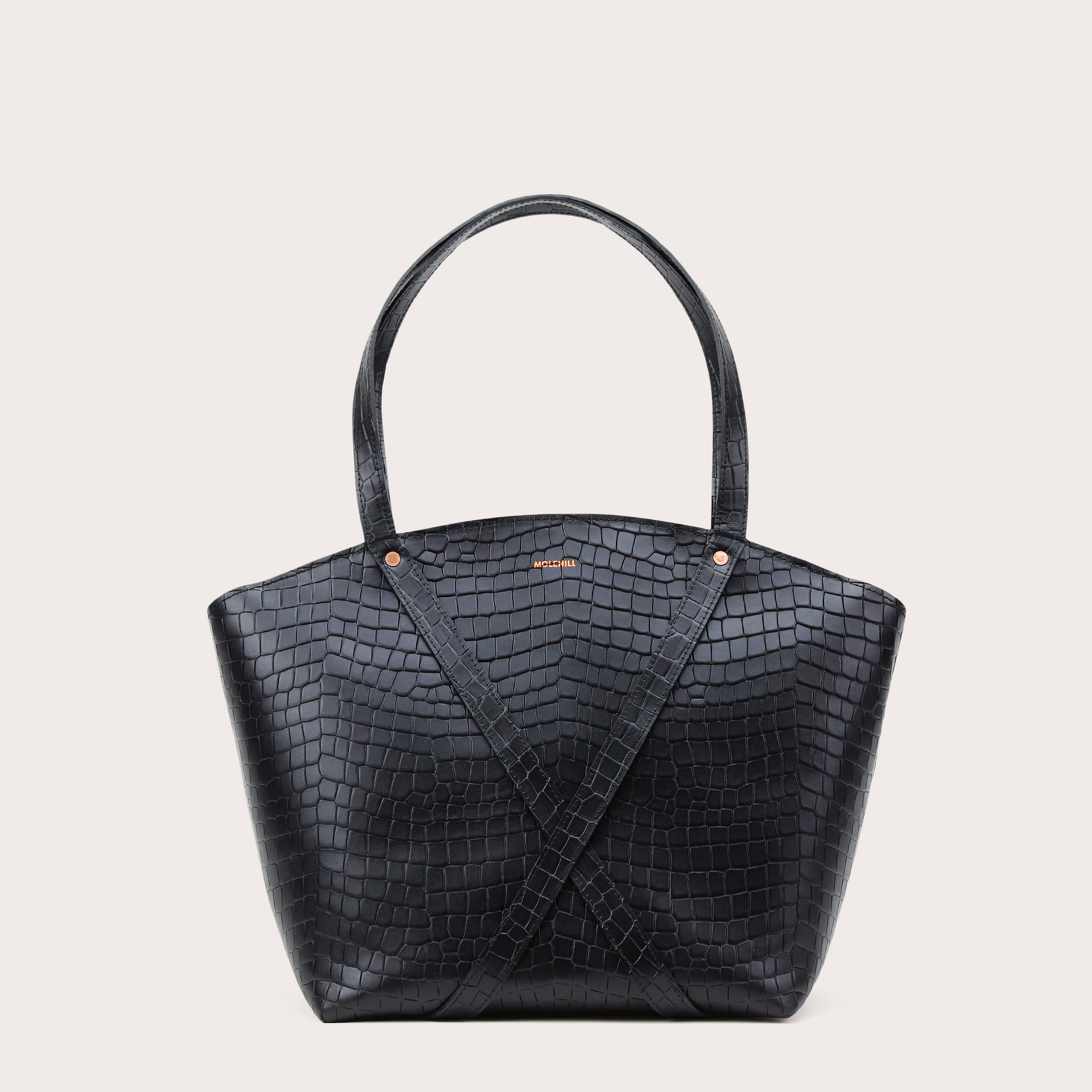 BONDIA Shopper Bag Croco Black-1