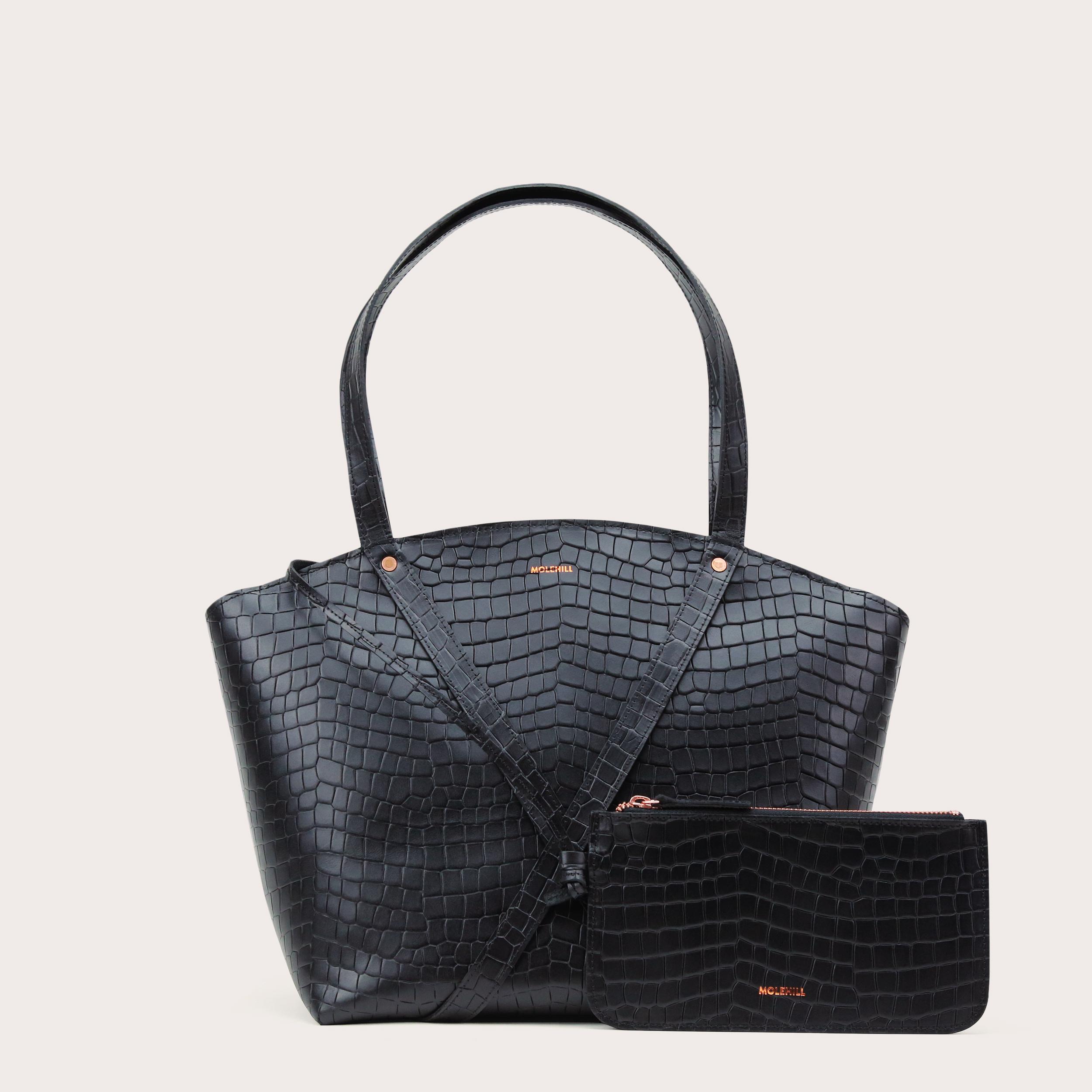 BONDIA Shopper Bag Croco Black-2