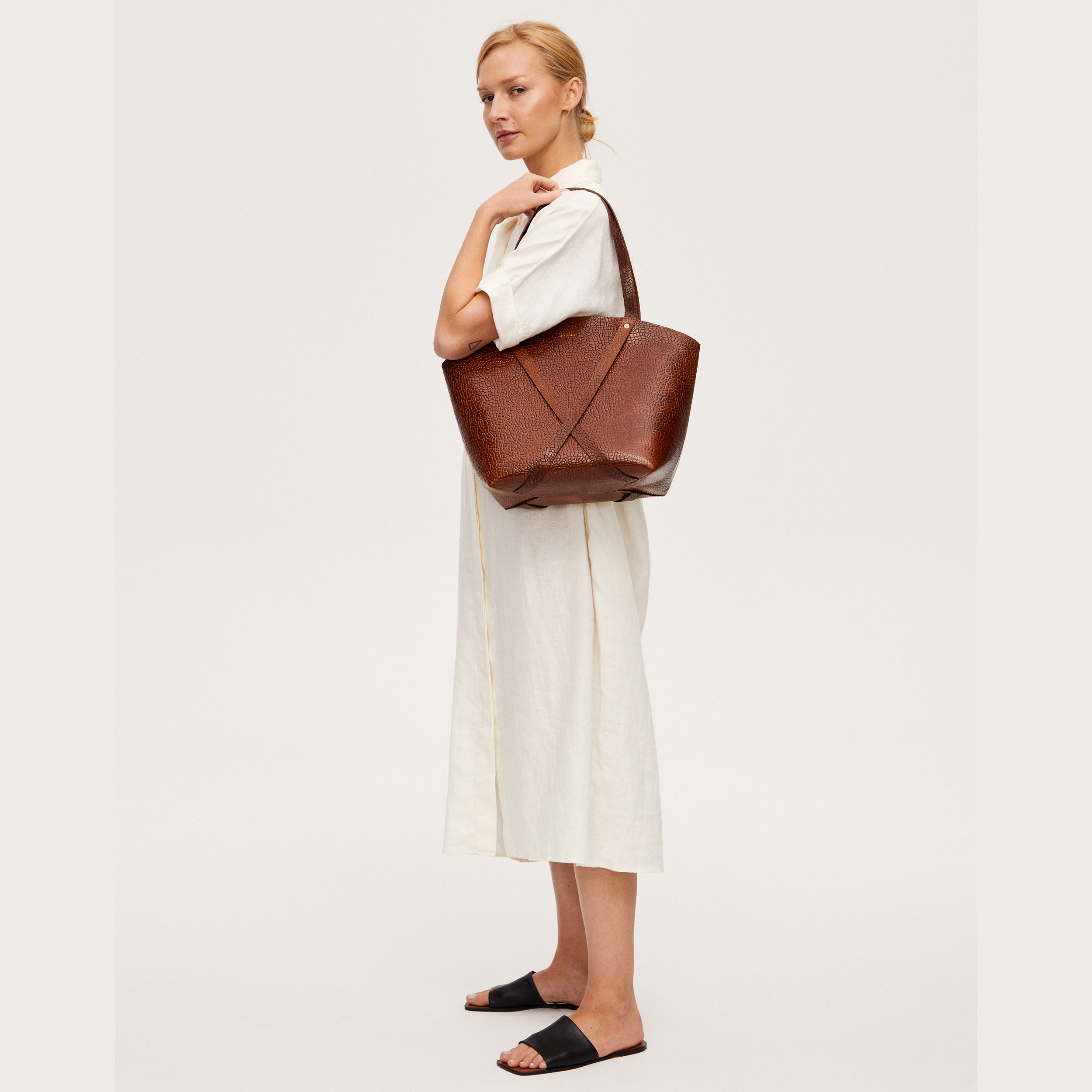 BONDIA Shopper Bag Mosaic Brown-look-1