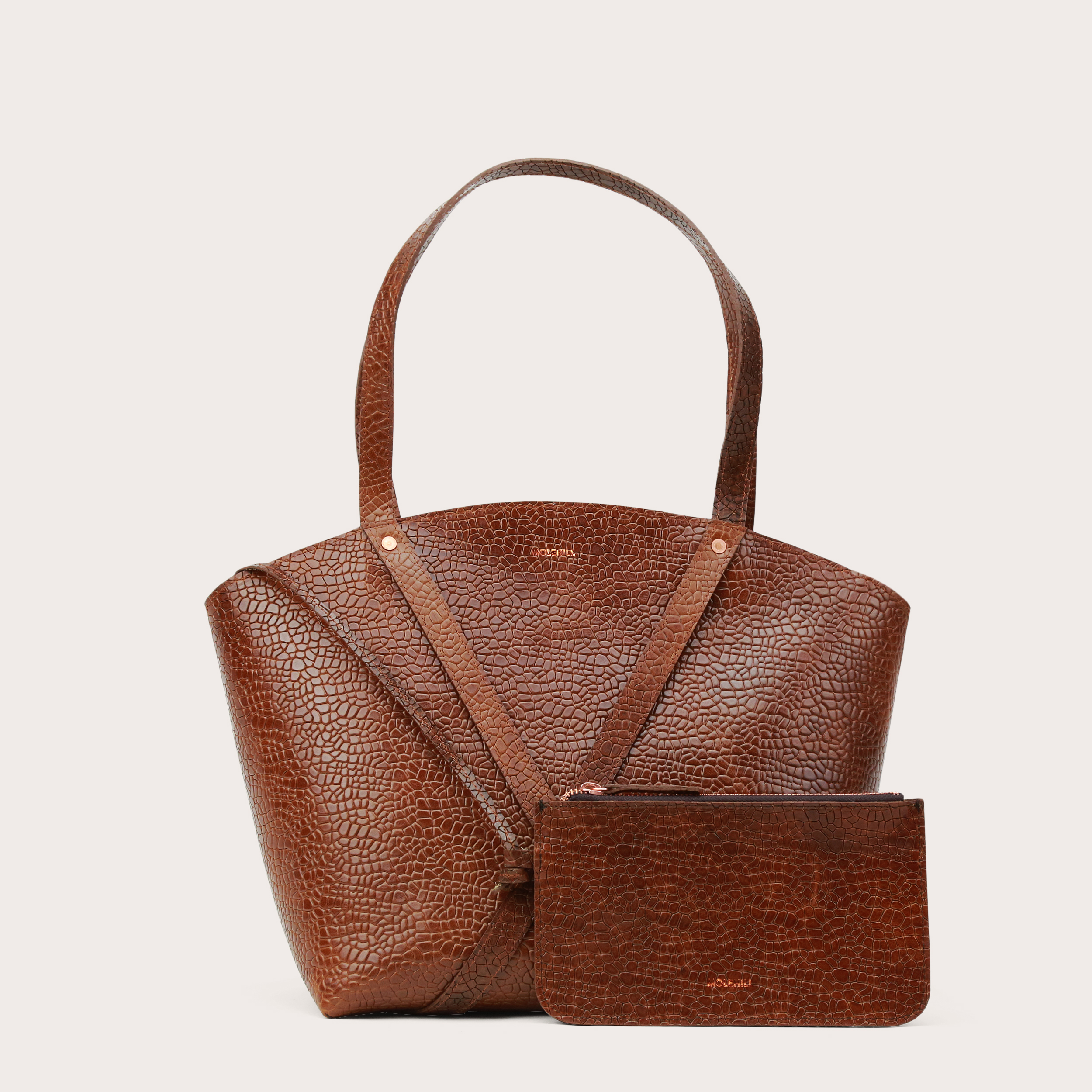 BONDIA Shopper BagMosaic Brown-2