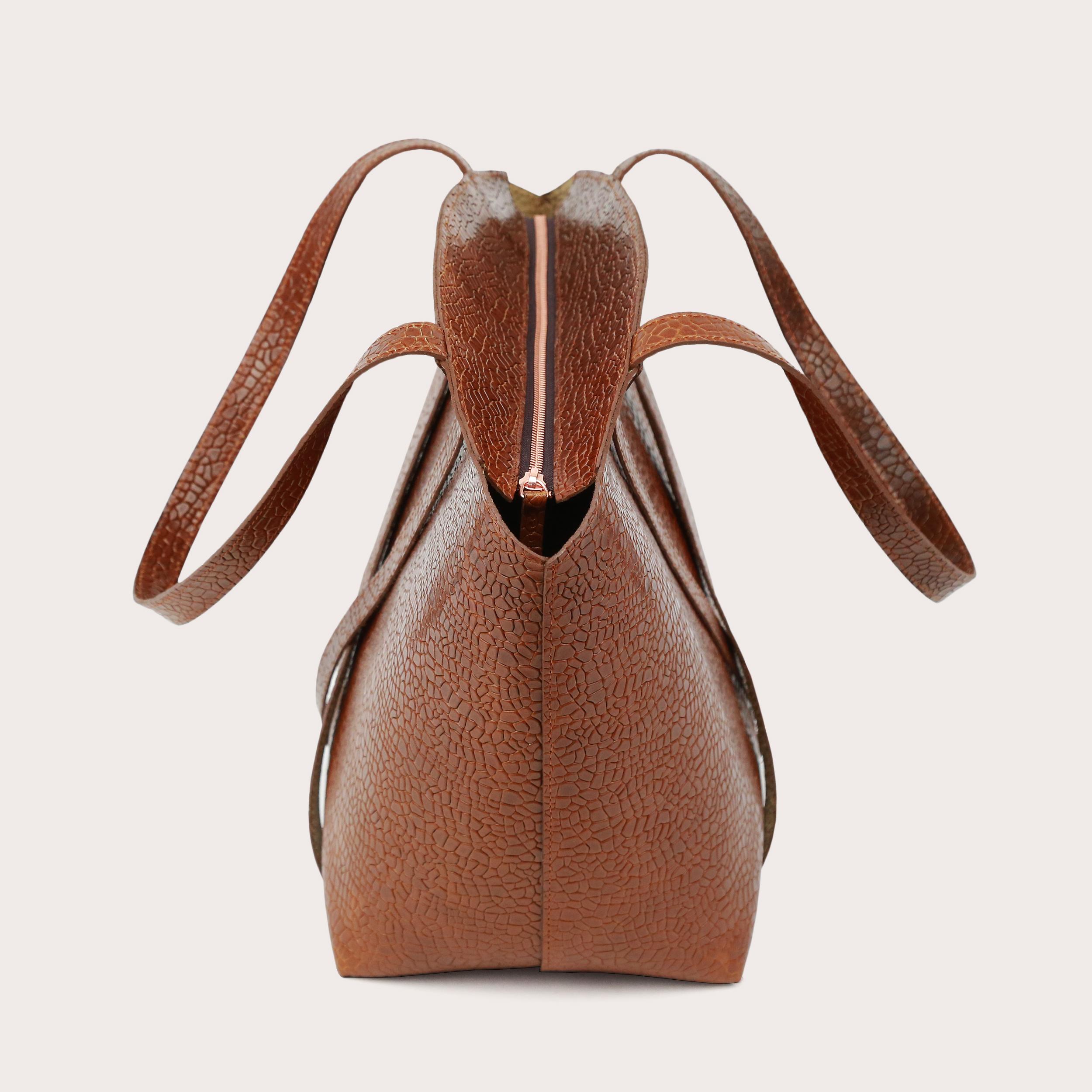 BONDIA Shopper BagMosaic Brown-4