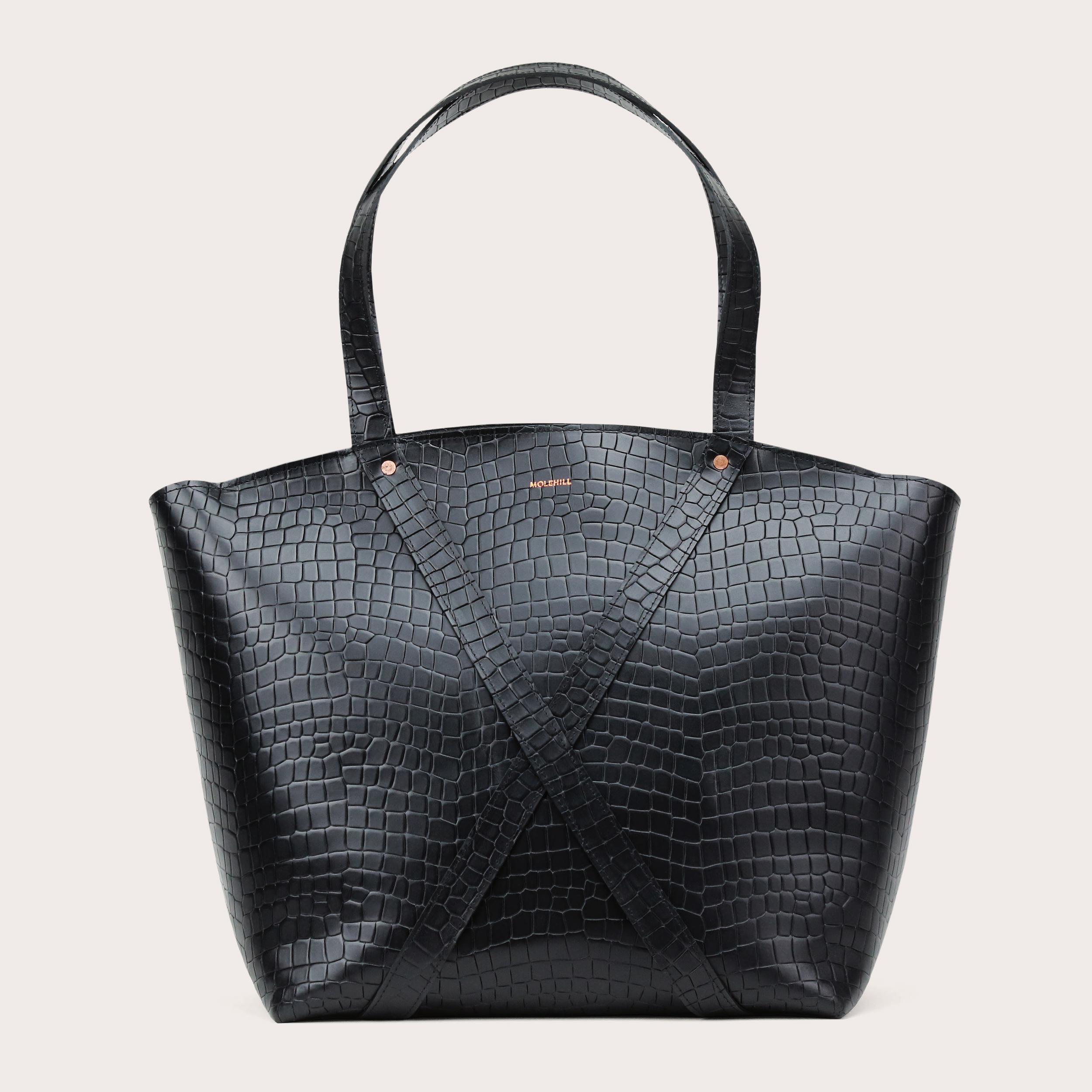BONDIA Weekender Bag Croco Black-1