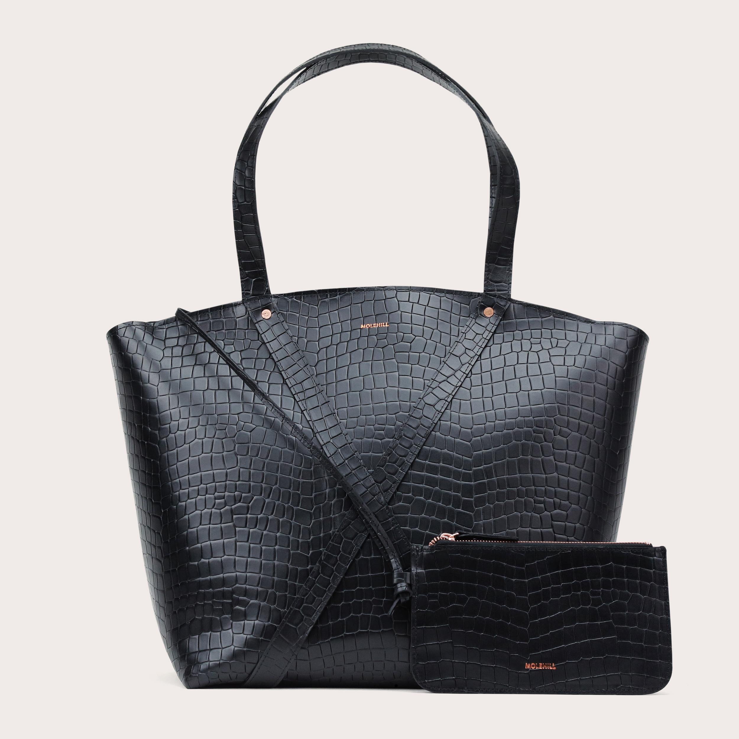BONDIA Weekender Bag Croco Black-2