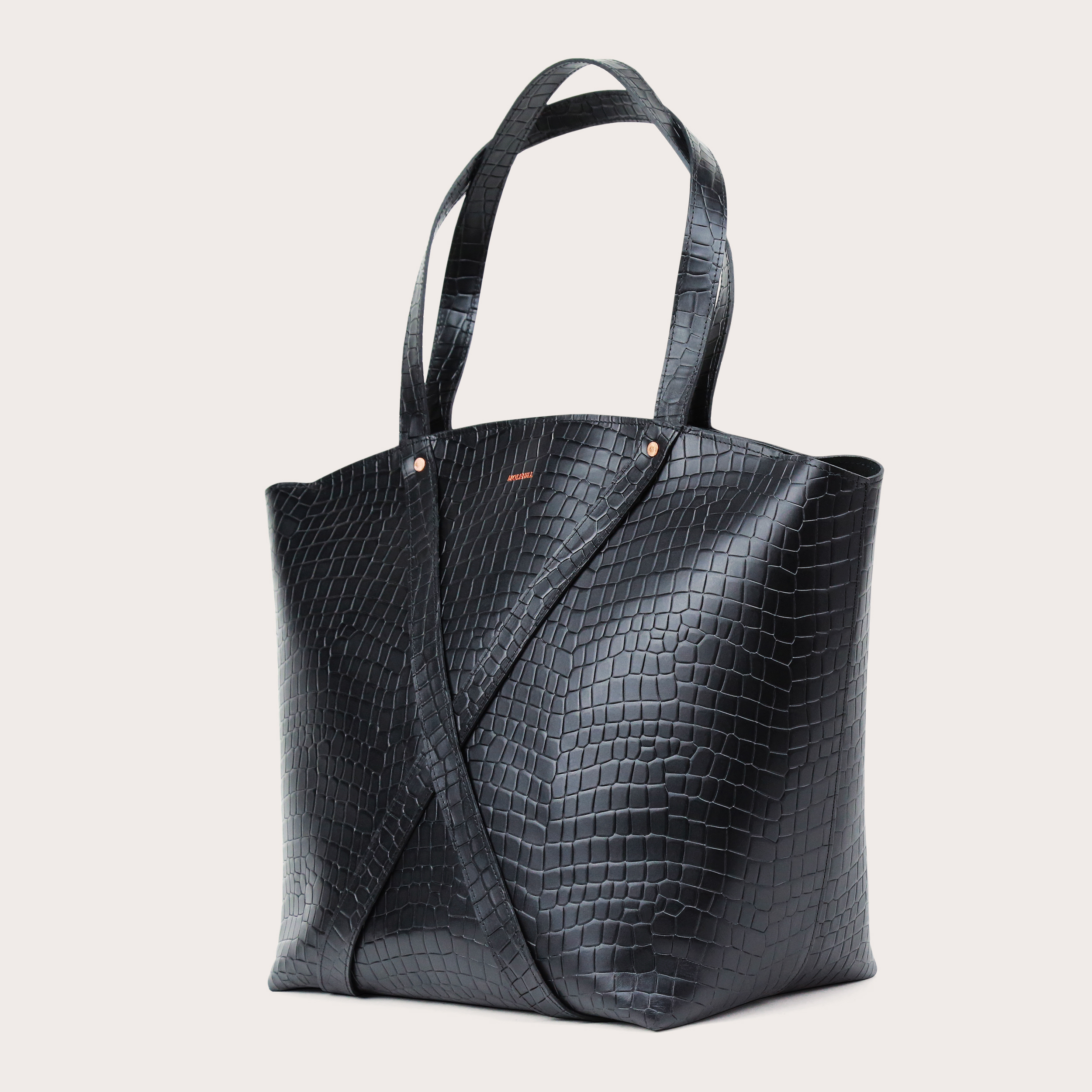 BONDIA Weekender Bag Croco Black-3