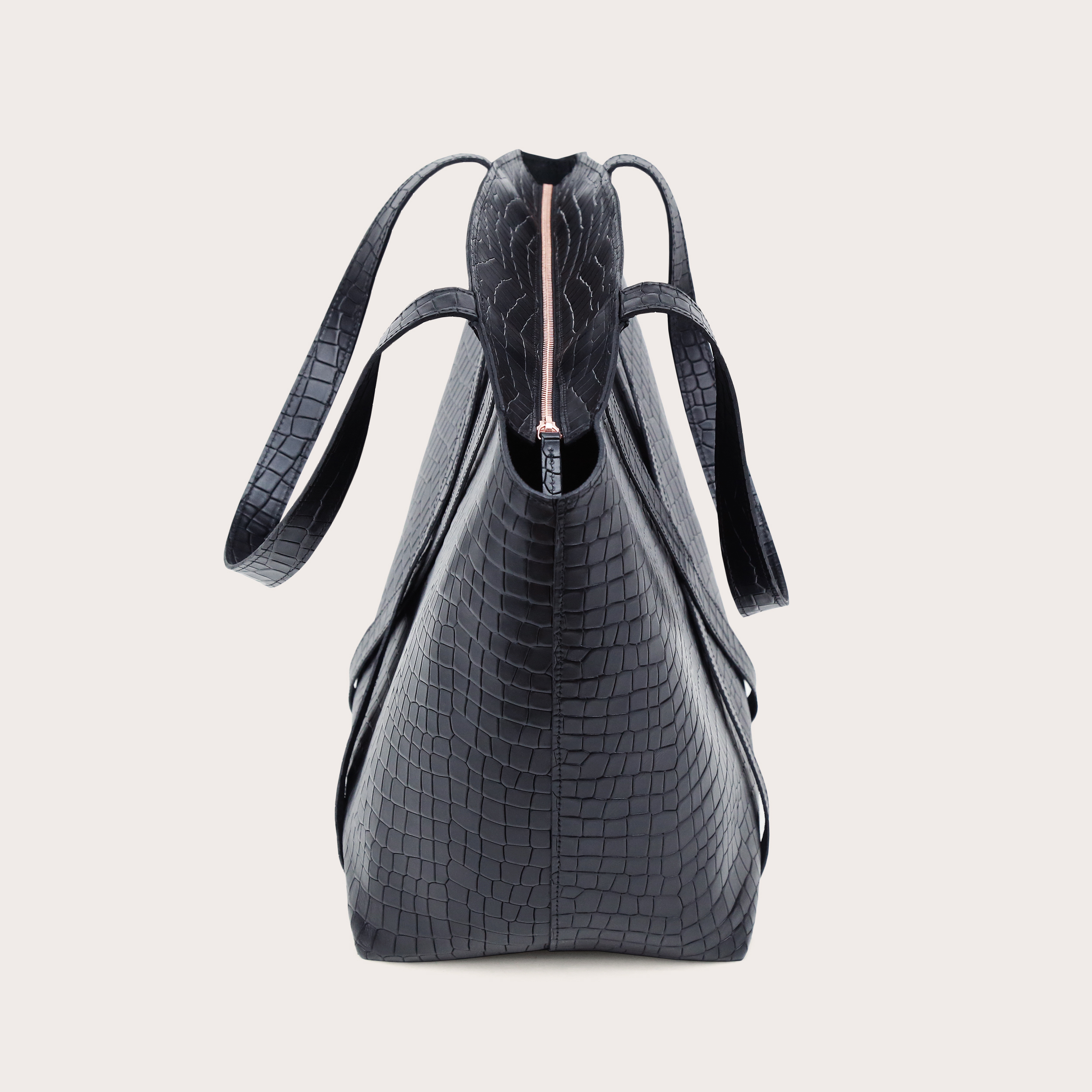 BONDIA Weekender Bag Croco Black-4