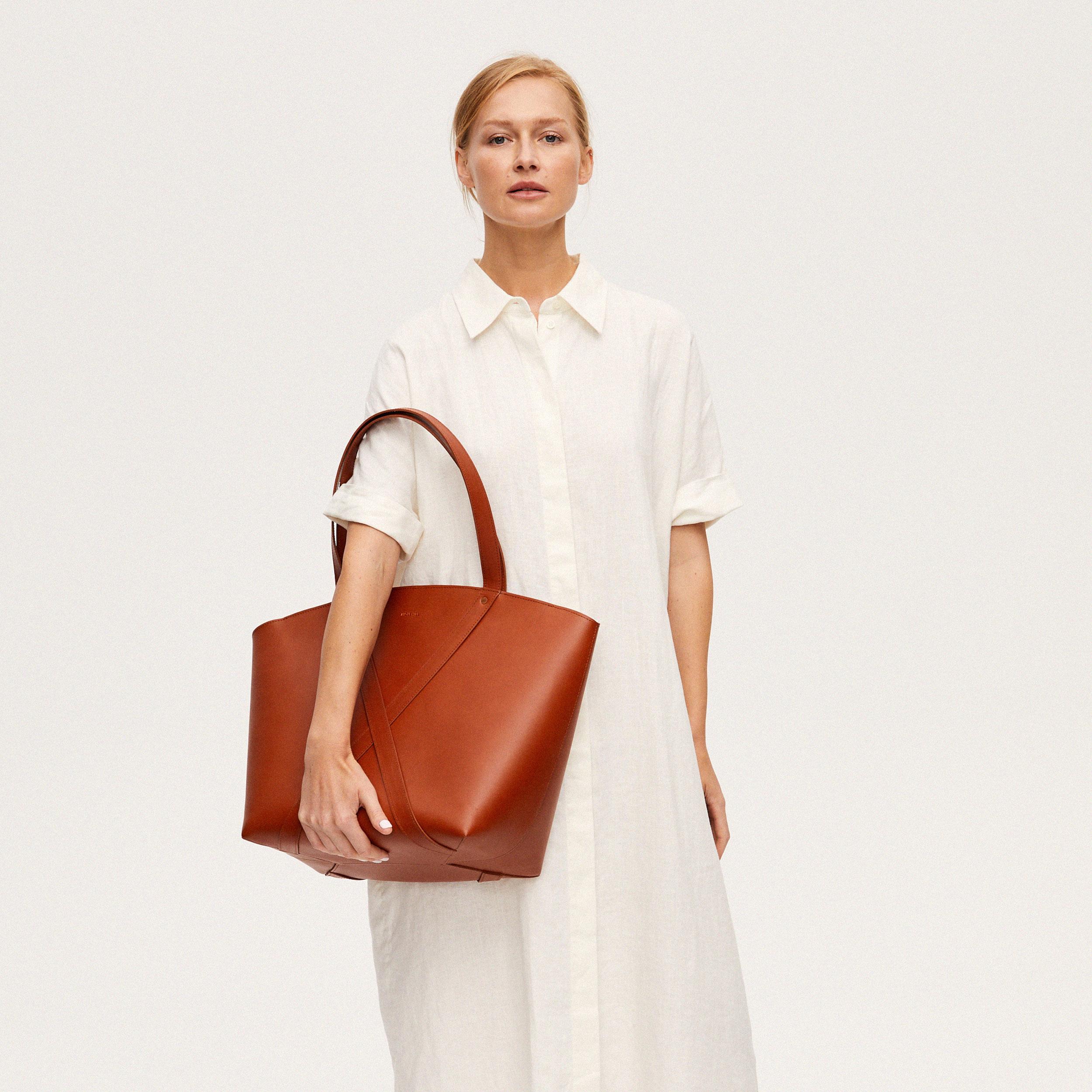 Torba BONDIA Weekender Bag Cognac-look-2