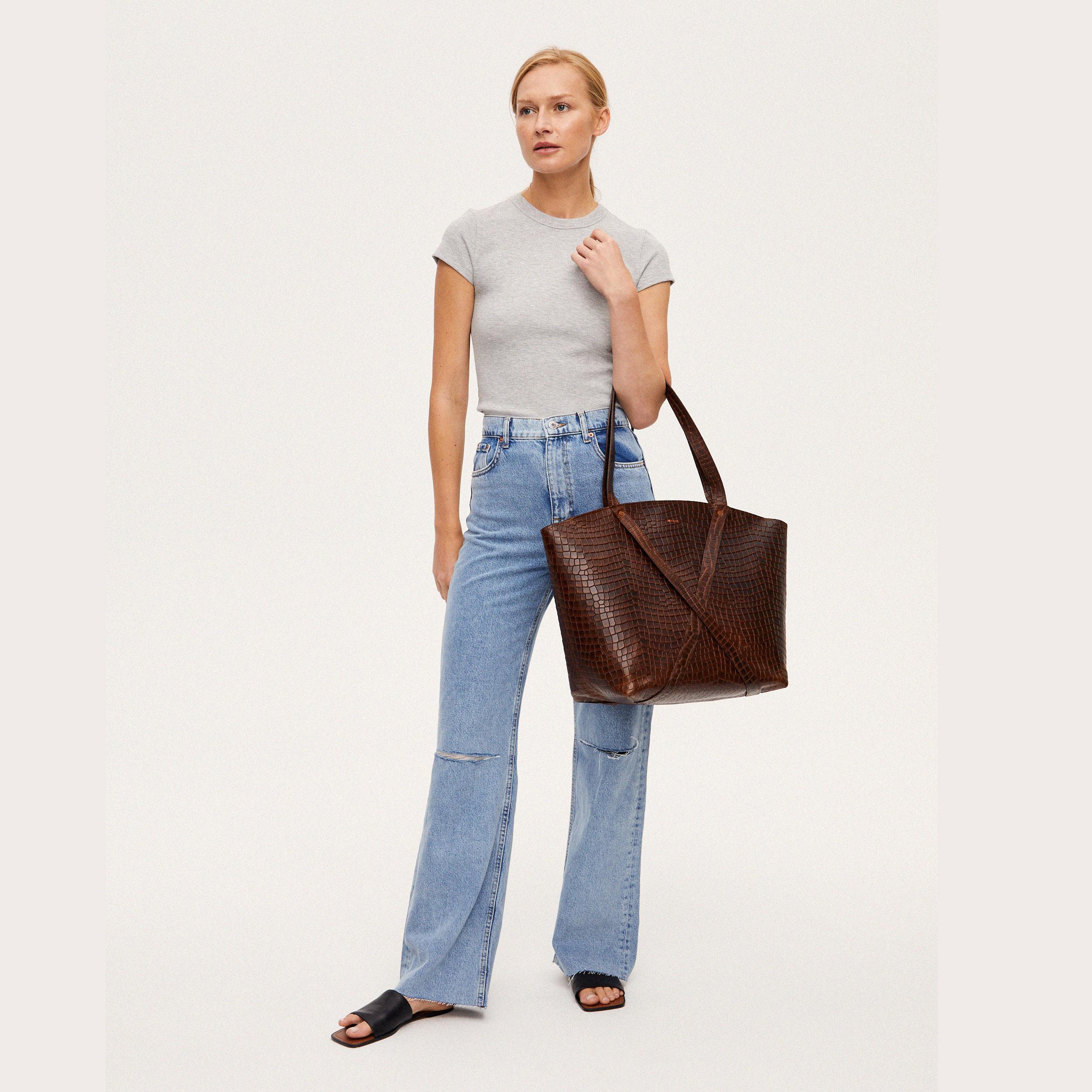 Torba BONDIA Weekender Bag Croco-look-2