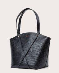BONDIA Shopper Bag Croco Black-3
