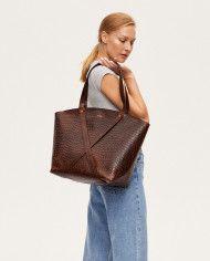 Torba BONDIA Weekender Bag Croco-look-1