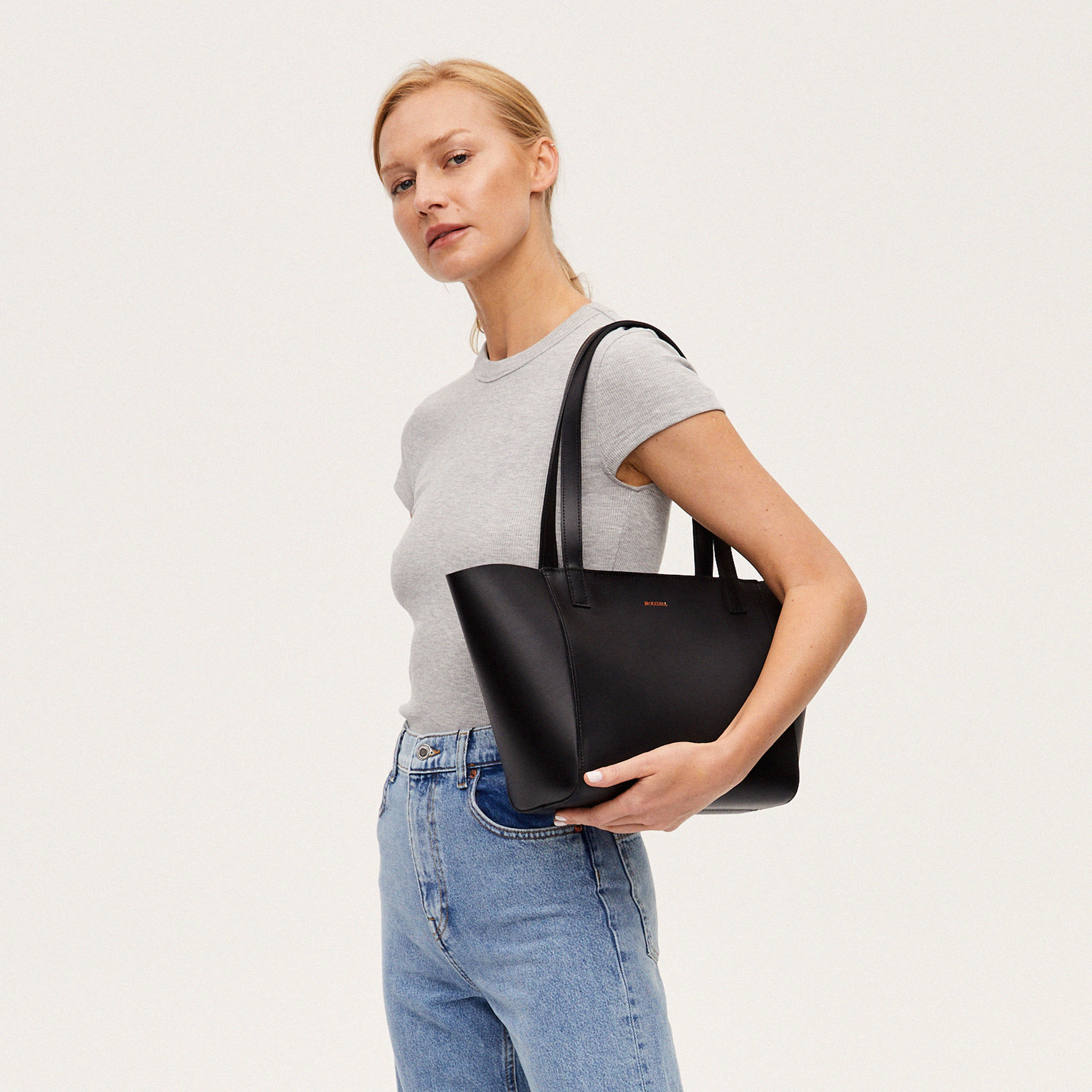 Torba ESTE Regular Zip Shopper Bag Black-6