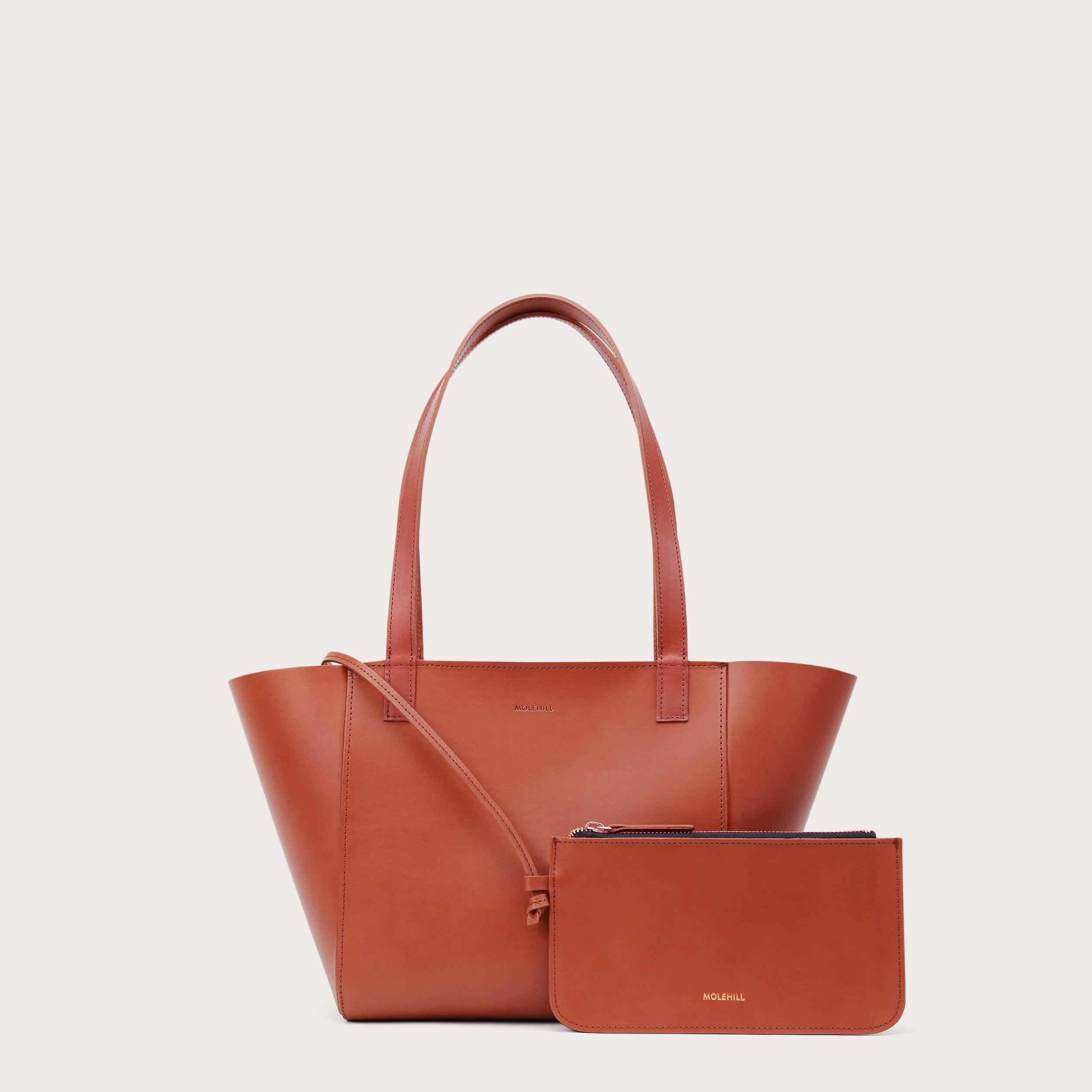 Torba ESTE Regular Zip Shopper Bag Cognac-2