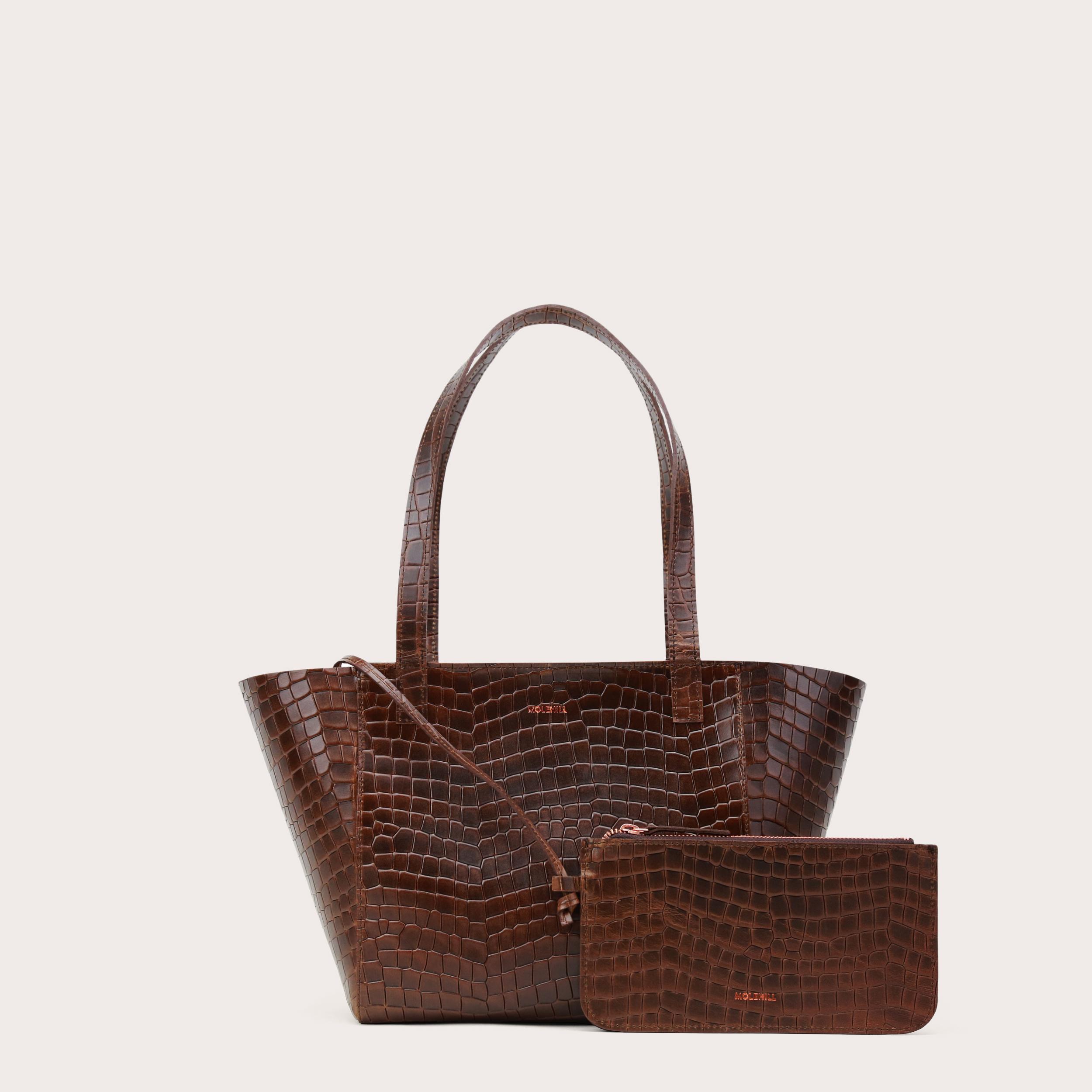 Torba ESTE Regular Zip Shopper Bag Croco 1-2