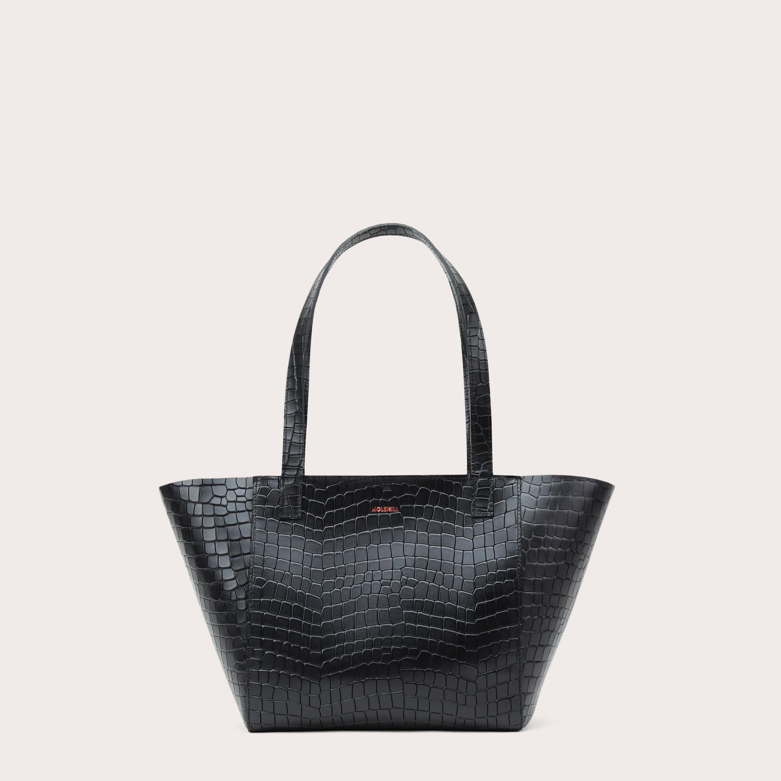 Torba ESTE Regular Zip Shopper Bag Croco Black 1-1