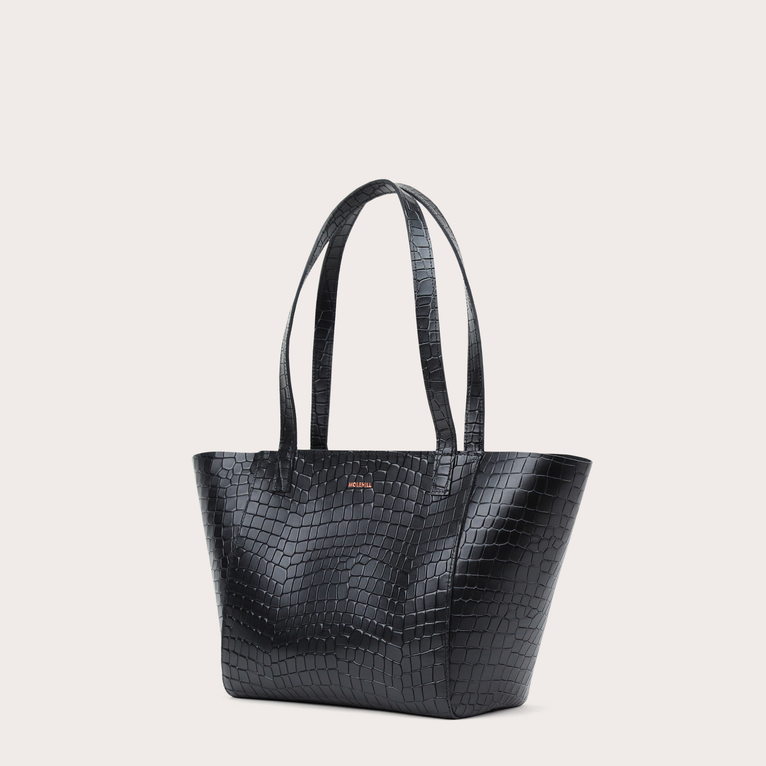 Torba ESTE Regular Zip Shopper Bag Croco Black 1-3