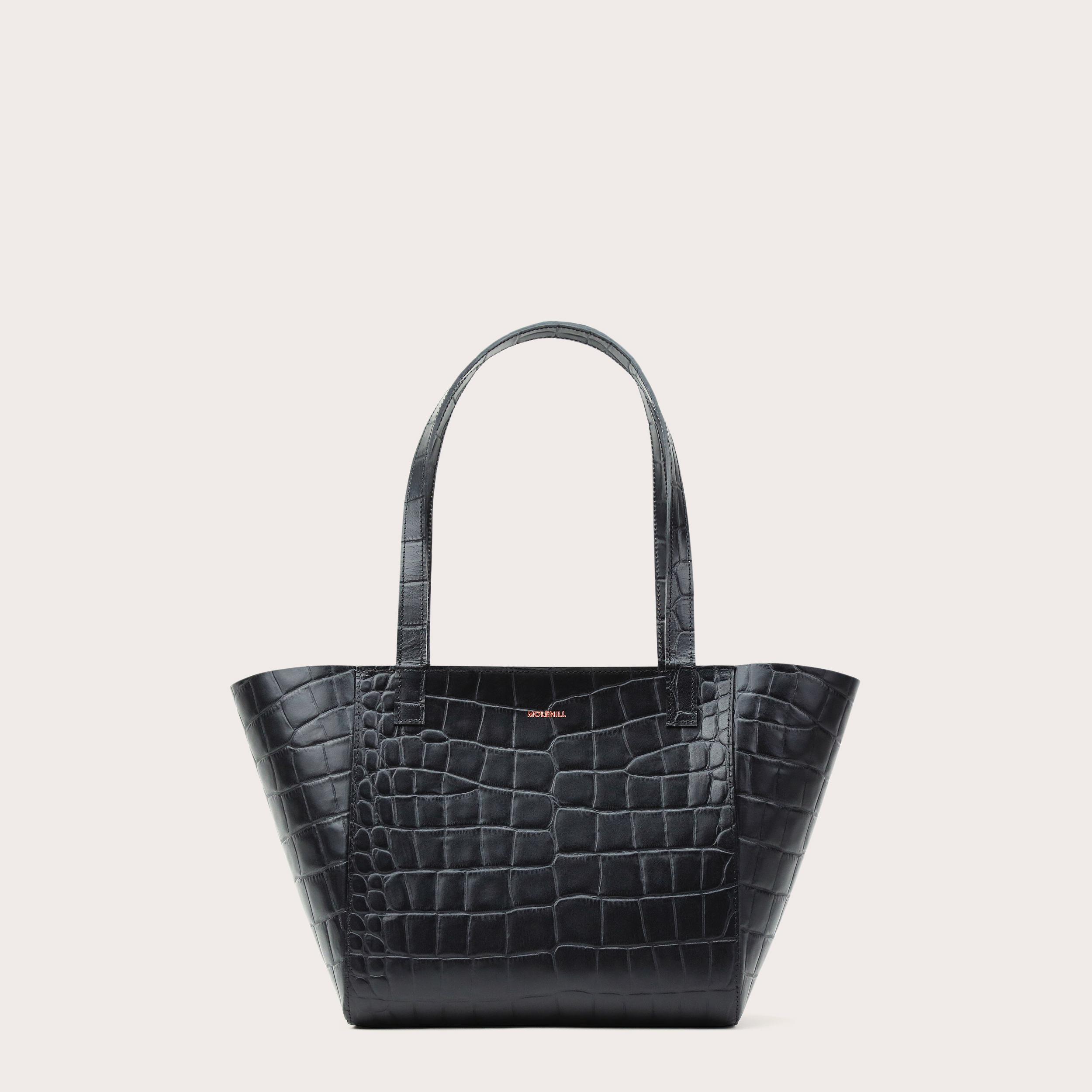Torba ESTE Regular Zip Shopper Bag Croco Black 2-1
