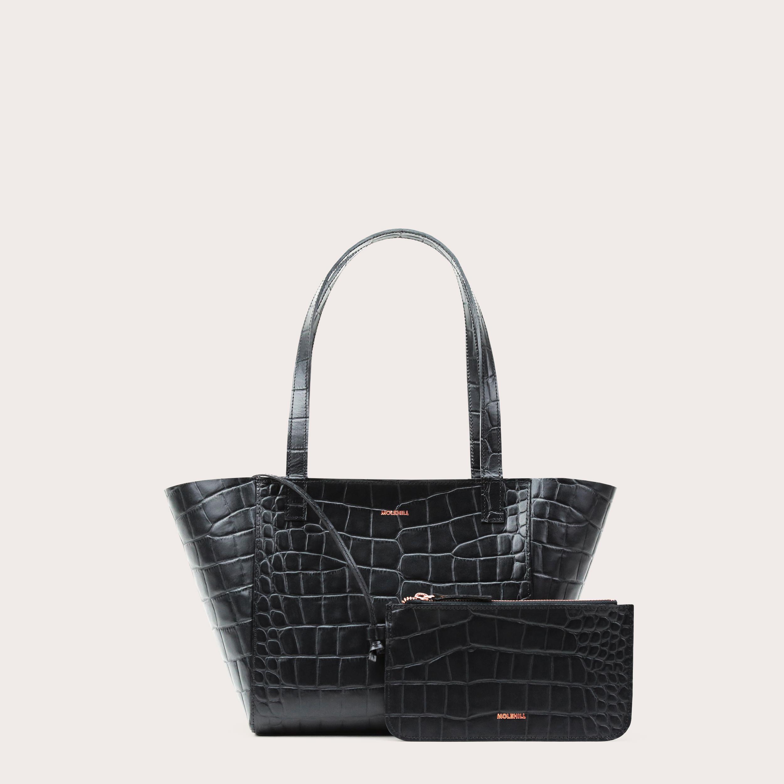 Torba ESTE Regular Zip Shopper Bag Croco Black 2-2