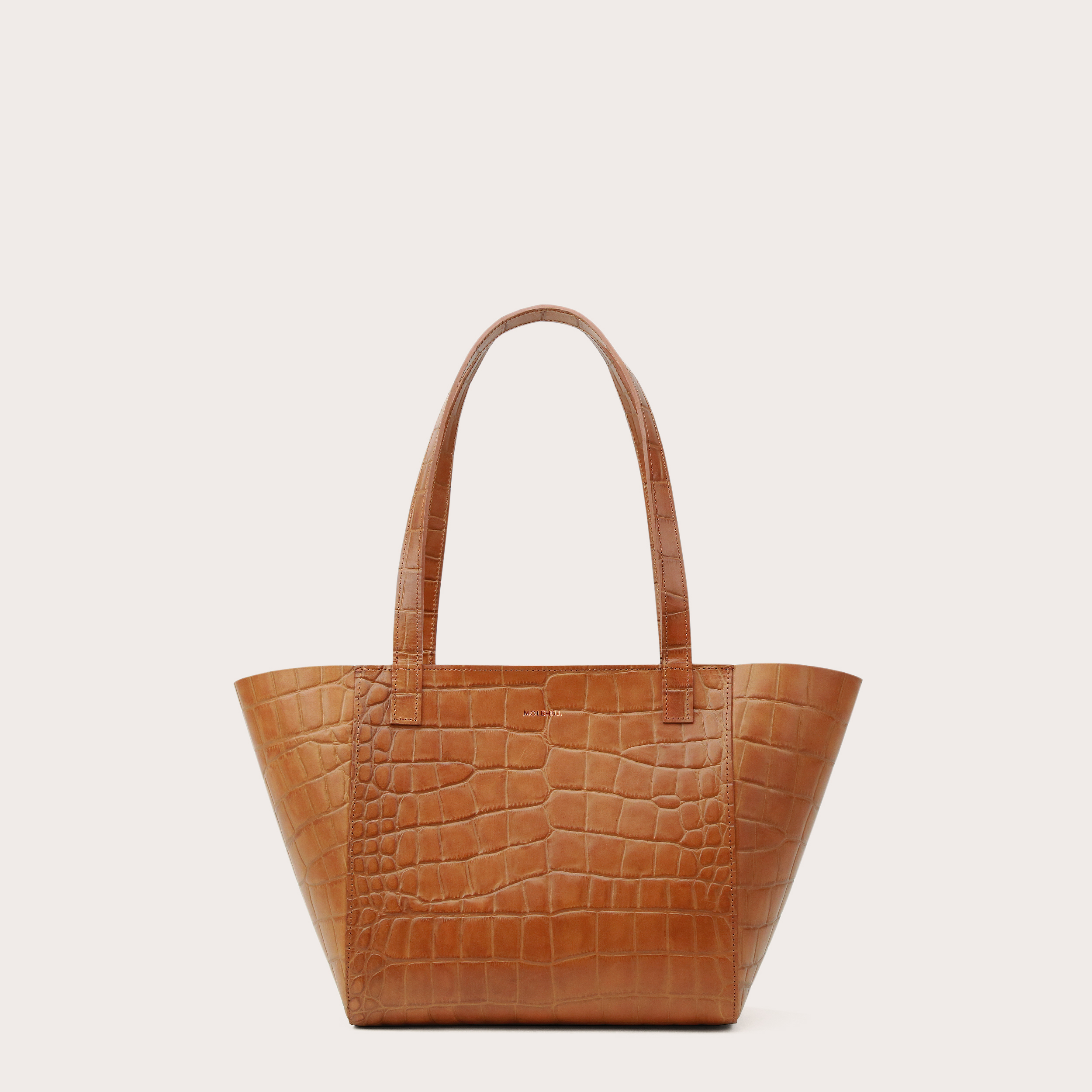 Torba ESTE Regular Zip Shopper Bag Croco Honey-1