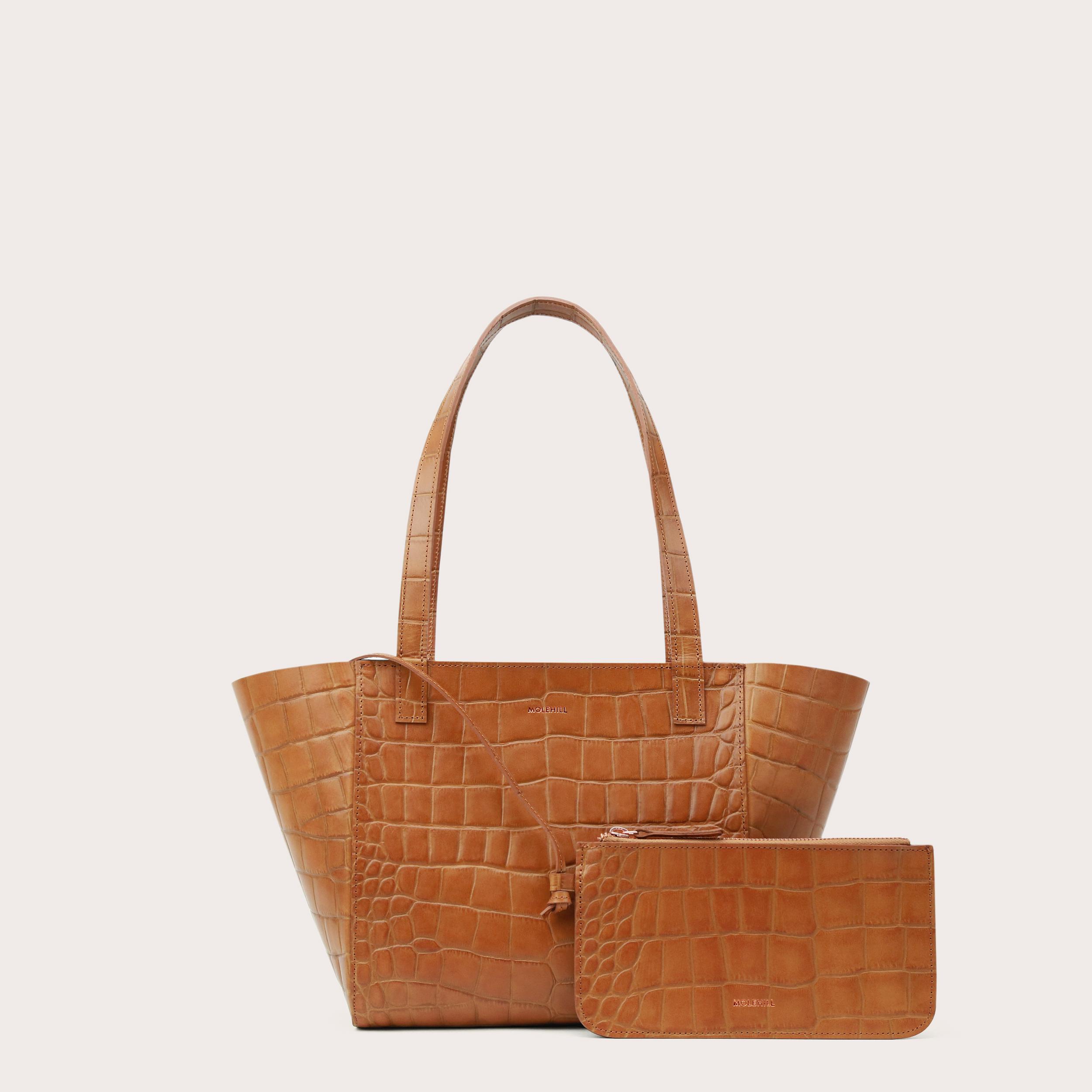 Torba ESTE Regular Zip Shopper Bag Croco Honey-2