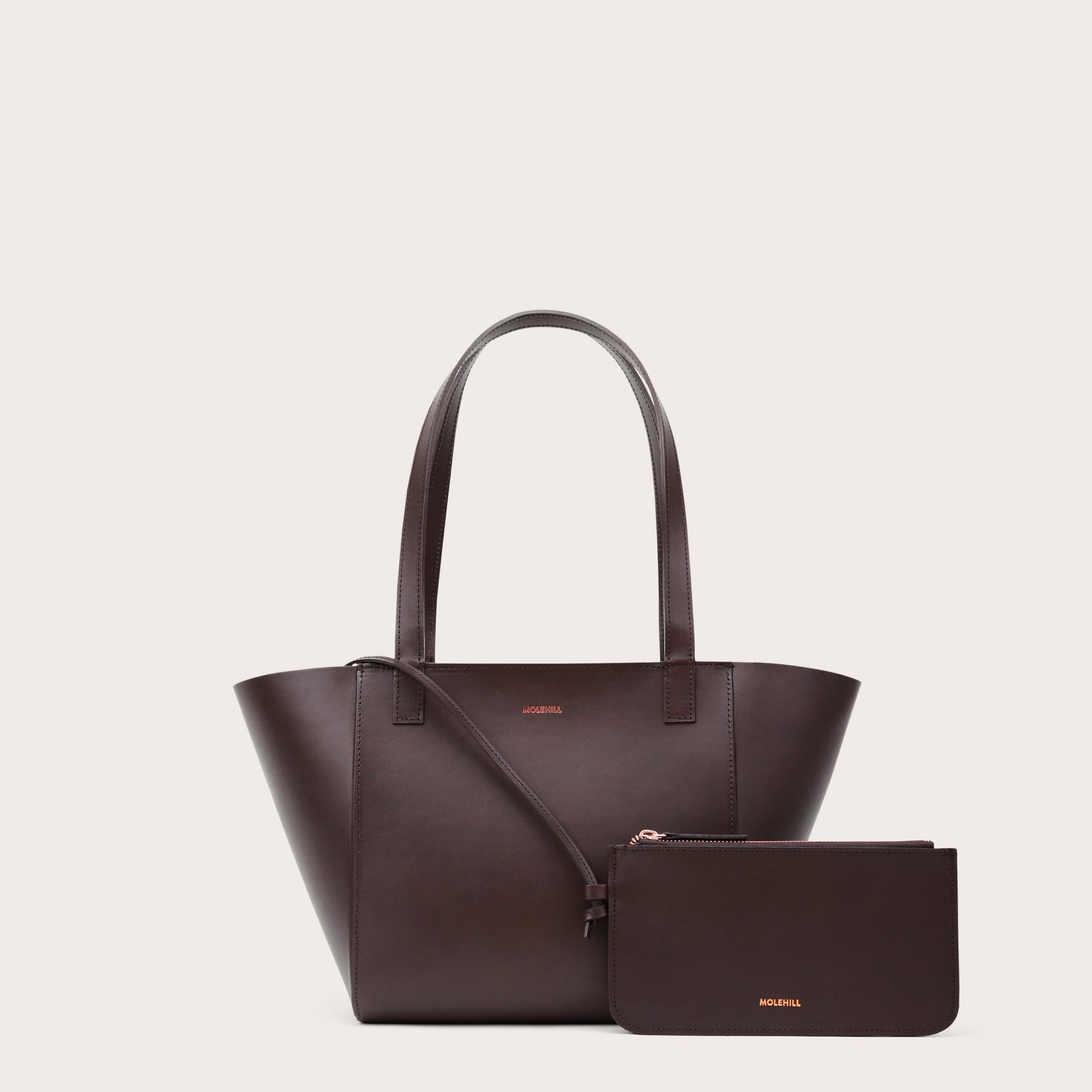 Torba ESTE Regular Zip Shopper Bag Dark Chocolate-2