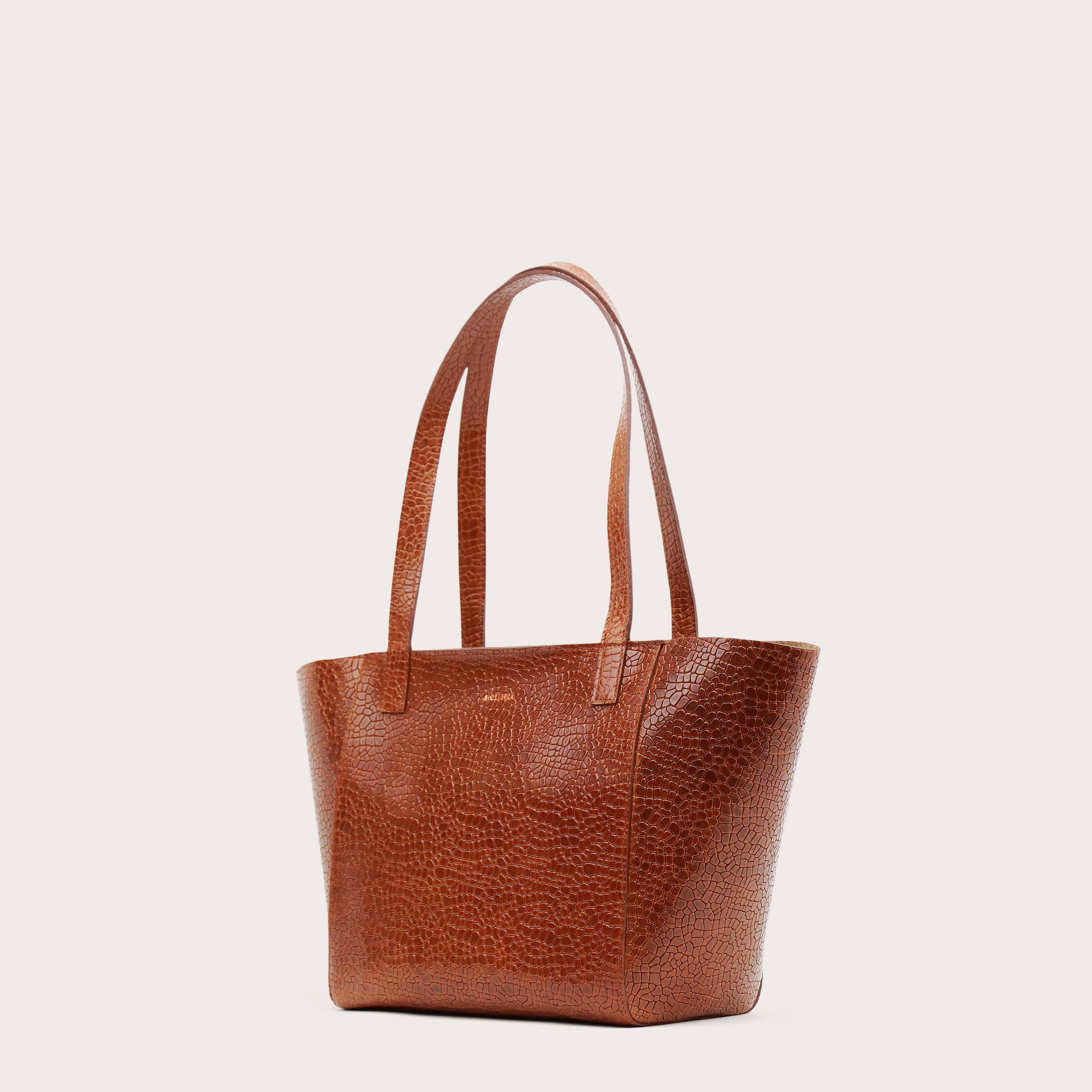 Torba ESTE Regular Zip Shopper Bag Mosaic Brown-3