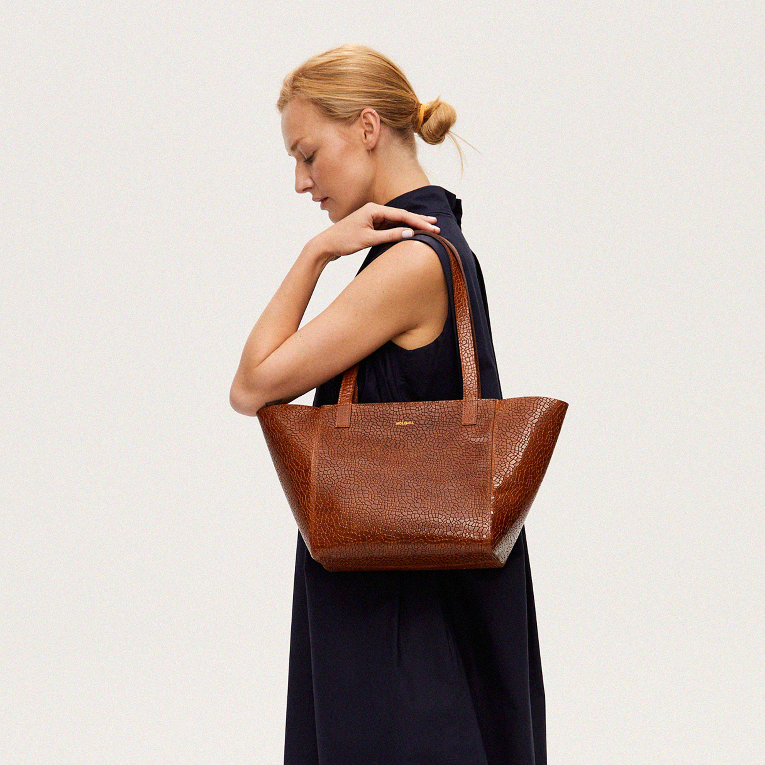 Torba ESTE Regular Zip Shopper Bag Mosaic Brown-5
