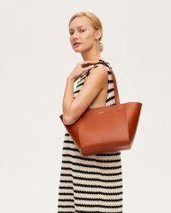 Torba ESTE Regular Zip Shopper Bag Cognac-6