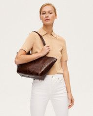 Torba ESTE Regular Zip Shopper Bag Croco 1-6