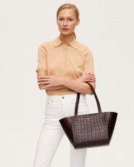 Torba ESTE Regular Zip Shopper Bag Croco 2-5